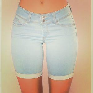 Michael Kors Bermuda Light Wash Jean Shorts